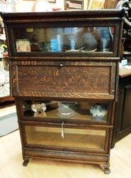 Oak Sectional Desk Bookcase