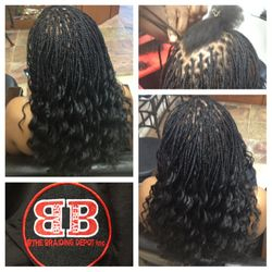 Micro Braids with mixed blend hair