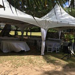 Tent Pole Leg Drapes