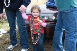 And she's still getting beads