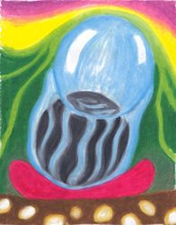 Making Room for Vitality, Oil Pastel, 11x14, Original Sold