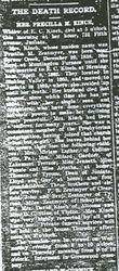 Kinch, Precilla M. Zentmyer 1909