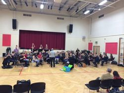 Rehearsal in full swing.