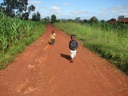 Children in the village area