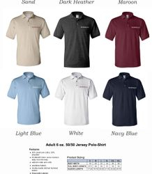 Polo Shirts, DryBlend 50/50 Fabric | Silk-Screen Logo - 3-Button Placket - Knitted Collar/Cuffs