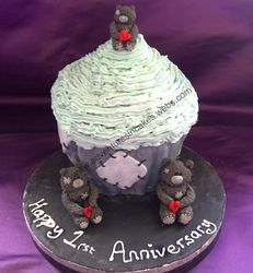 Giant Cupcake with teddys
