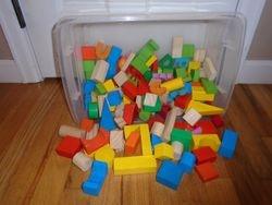 Wooden Building Blocks- Quantity 150 - $20