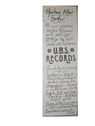 UBS Records Advert 1985