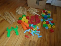 American Toys Vintage Bolts 'n Nuts Wood and Plastic Building Set - $40