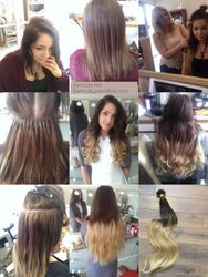 220grams of Keratin tipped Extensions
