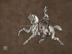 """Sidesaddle in Silver"" - Hand-Embossed Aluminum"