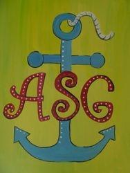 Monogram Anchor
