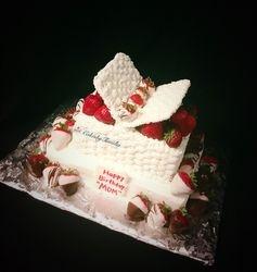 open basket cake basket weave