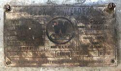 Welder Data Plate 1