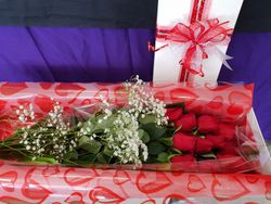 12 x60cm Red Roses in Gift Box