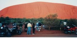 Sunrise at Ayres Rock after the 1994 AGM at Alice Springs - April 1994