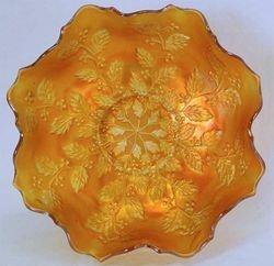 Holly eight ruffled bowl - marigold