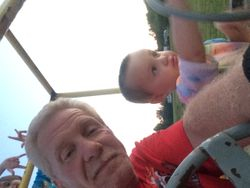 Steve Curtright and grandson
