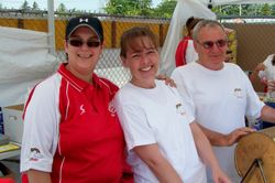 Lisa, Ann and Papa Joe having fun at the booth