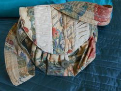 ..from curtain fabric - A Scrip Bag