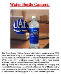 Water Bottle Camera