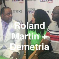 Roland Martin, Demetria McKinney and Roger Bobb at Essence Festival - McDonald's Booth