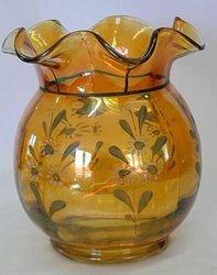 """Enameled Halloween 7"""" bulbous vase"""