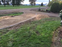 Gravel laid and compacted