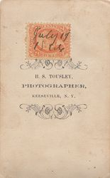 H. S. Tousley of Keeseville, NY