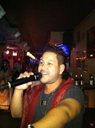 Jason bringing it to the crowd for the first time at 502 Bar Lounge's Social Saturday Night Karaoke!