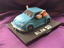 mooning car cake