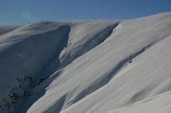 Hawkdun snow art
