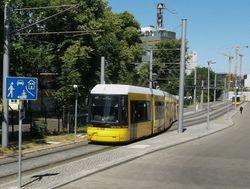 Flexity Trams on Emma-Herwegh-Straße.