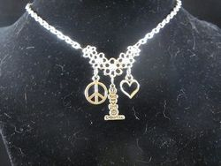 Peace, Love, Supernatural Necklace