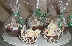 Chocolate Bowls with Chocolate Bark