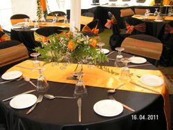 black table clothes for decorations