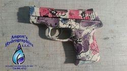whole pistol in flower pattern