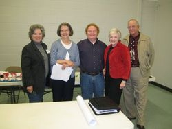 Current Federation president Nancy Curry (second from left) pictured with four former presidents