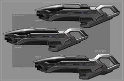 Heavy Starfleet blaster #1-2-3