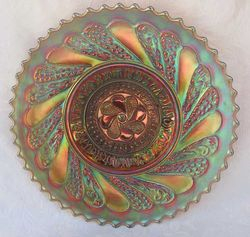 "Roundup 9"" plate, amber/amethyst"