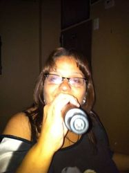 Carmen is a real trooper who served up a hot merengue to the crowd at 502 Bar Lounge's Social Saturday Karaoke Night!