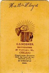 C. D. Mosher, photographer of Chicago, Illinois - back