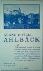 Grand Hotell Ahlbeck 1930