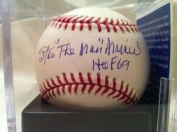 "Stan Musial rare autograph, ""The Man HOF 69"", PSA#P13704, NM MT, MLB Selig"