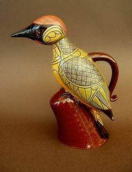 "Green Woodpecker 11"" tall"