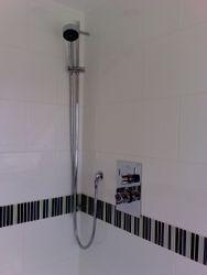 Built in shower valve with slider rail