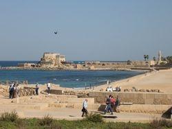 Ruinas del palacio de Herodes en Cesarea