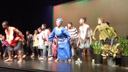 DANCE WITH REFUGEE KIDS INCLUDING COMMUNITY MEMBERS