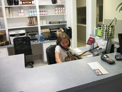 Olivia manages Pet ER front desk