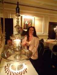 Guests loving the Beileys Fountain, Retford Hotel  Drinks Fountain Hire